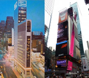 1 times square 1965 and now