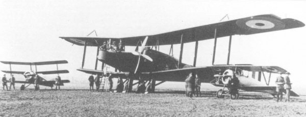 The image shows 0-100, serial no 3116, of the RNAS's 5th Wing based at Coudekerque, taken on 4 March 1917 and accompanied here by a Sopwith Triplane and a Nieuport 24bis