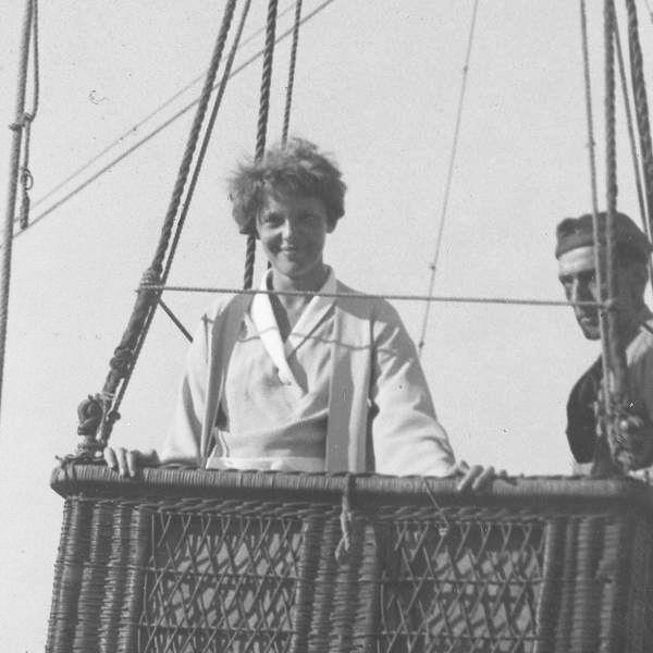 AE in a balloon - Chicago Worlds Fair - June 13 1933 - 2