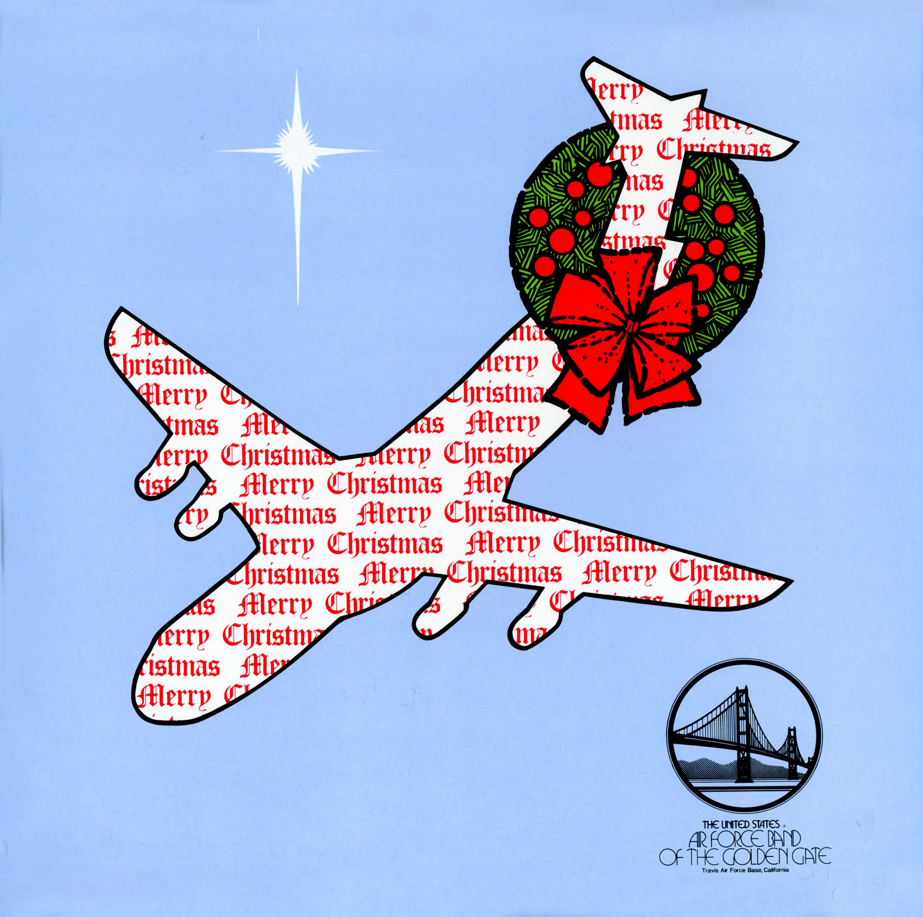 KM14734 - US Air Force Merry Christmas Air Force Band of the Golden Gate Travis AFB, CA