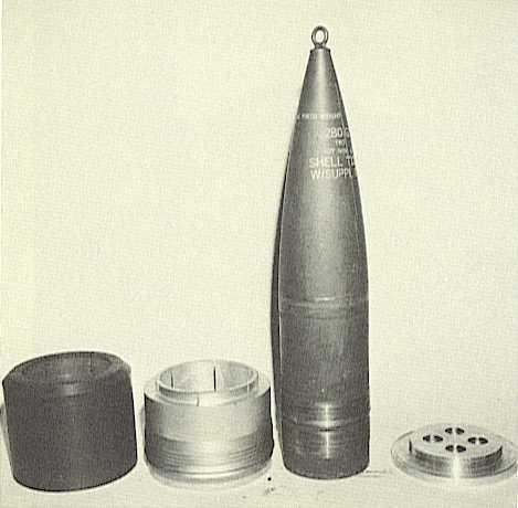 Disassembled Gunfighter saboted projectile