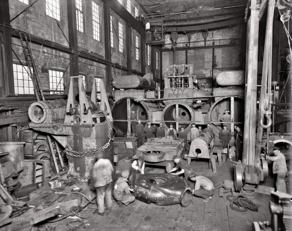 Wyandotte, Michigan, 1912. Detroit Ship Building Co. Steamer No. 190 Seeandbee - main engine, 3-cylinder compound-inclined type (66 x 66 x 96)- 108 inches