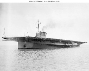 USS Wolverine (IX-64) - probably photographed soon after completion