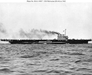 USS Wolverine (IX-64) photographed by the Buffalo, N.Y., Police Department in 1942