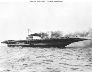 USS Wolverine (IX-64) photographed by the Buffalo, N.Y., Police Department in 1942 - stern