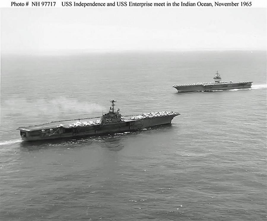 USS Independence (CV-62) and USS Enterprise (CVN-65) - Indian Ocean, November 1965