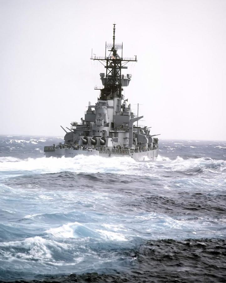 USS New Jersey (BB-62) - 1982 - sea trials