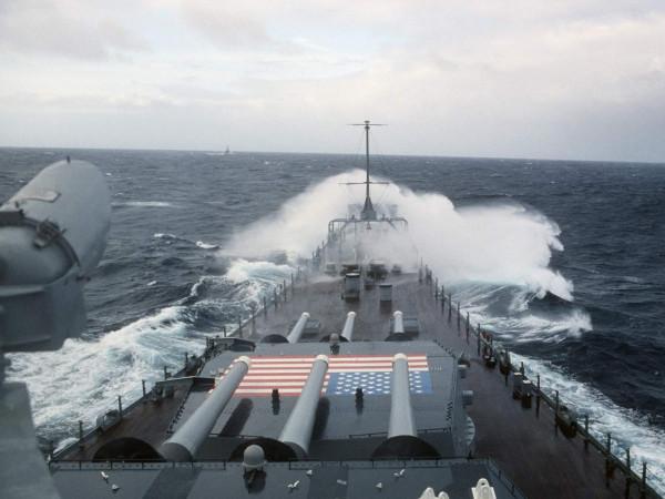 Battleship USS Iowa (BB-61) underway