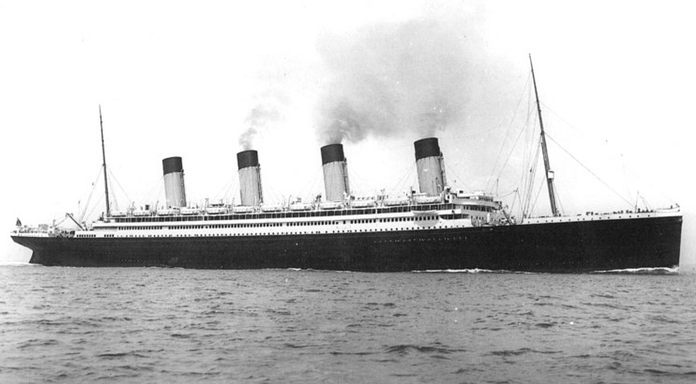 Olympic as she appeared after her refit following the Titanic disaster, with a full complement of lifeboats - 1922