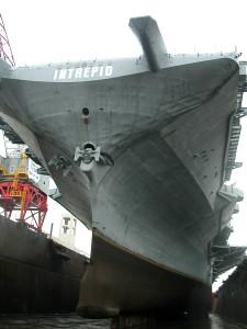 USS Intrepid (CV-11) drydocked - Scott Koen