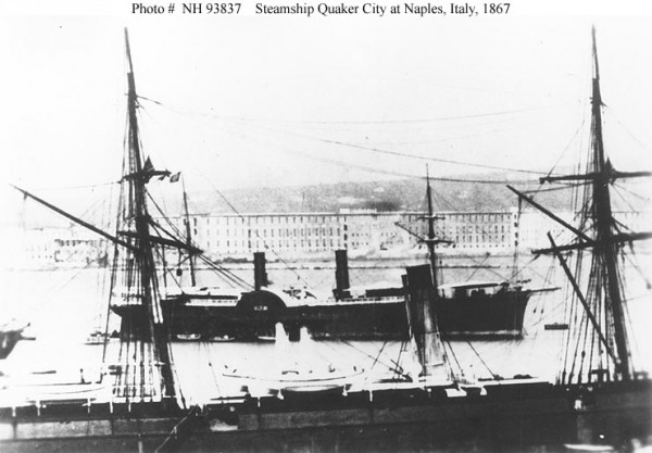 SS Quaker City at Naples, Italy, in 1867