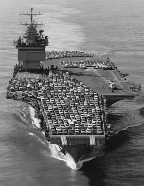 USS Enterprise (CVN-65) - Feb 1974 - enroute to NAS Alameda