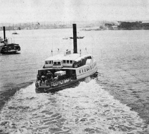 Hunchback in commercial service as a New York ferry 1859
