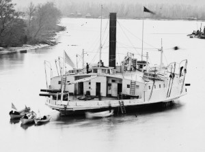 USS Hunchback, a converted New York City double-ended paddle wheel ferry