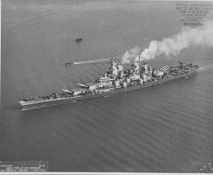 USS Iowa after refit