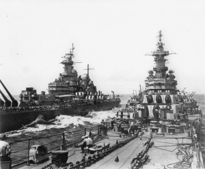USS Missouri and USS Iowa