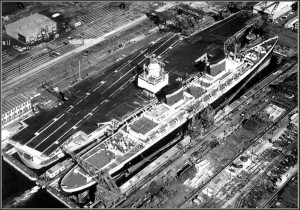 CVN-65 and SS United States