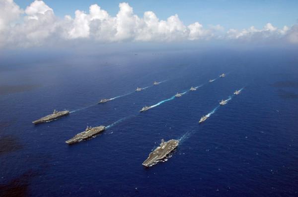 Valiant Shield 2006 excercises - Philippine Sea - June 17 2006 - 3 carriers