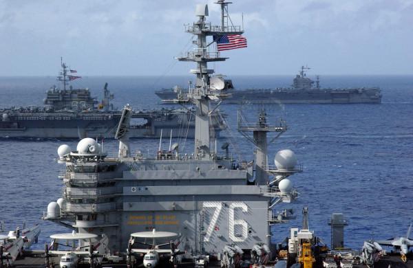USS Ronald Reagan (CVN-76),USS Kitty Hawk (CV-63), USS Abraham Lincoln (CVN-72)