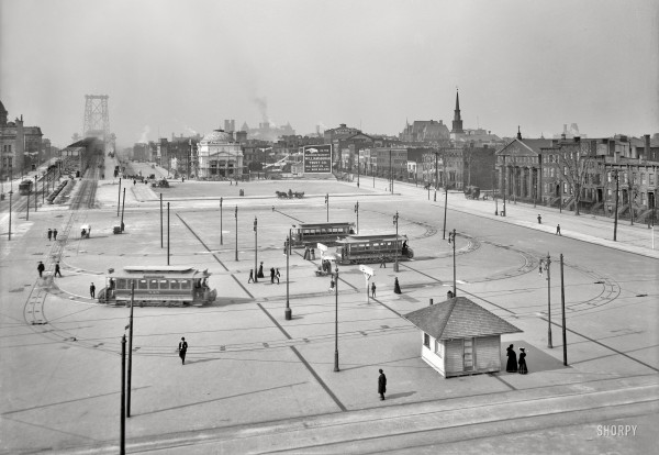 Brooklyn, New York, circa 1906. Williamsburg Bridge Plaza - 1s