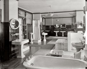 Washington, D.C., circa 1920. Standard Sanitary Manufacturing Co. And the potty's over -- over behind that partition. Harris & Ewing