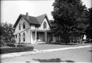 Photograph of Amelia Earhart's birthplace, Atchison, Kansas