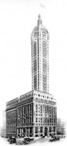 Основание и башня Singer Building