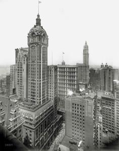 Singer Building - фото 1913 года