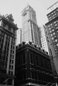 Singer Building перед разборкой - осень 1967 г.