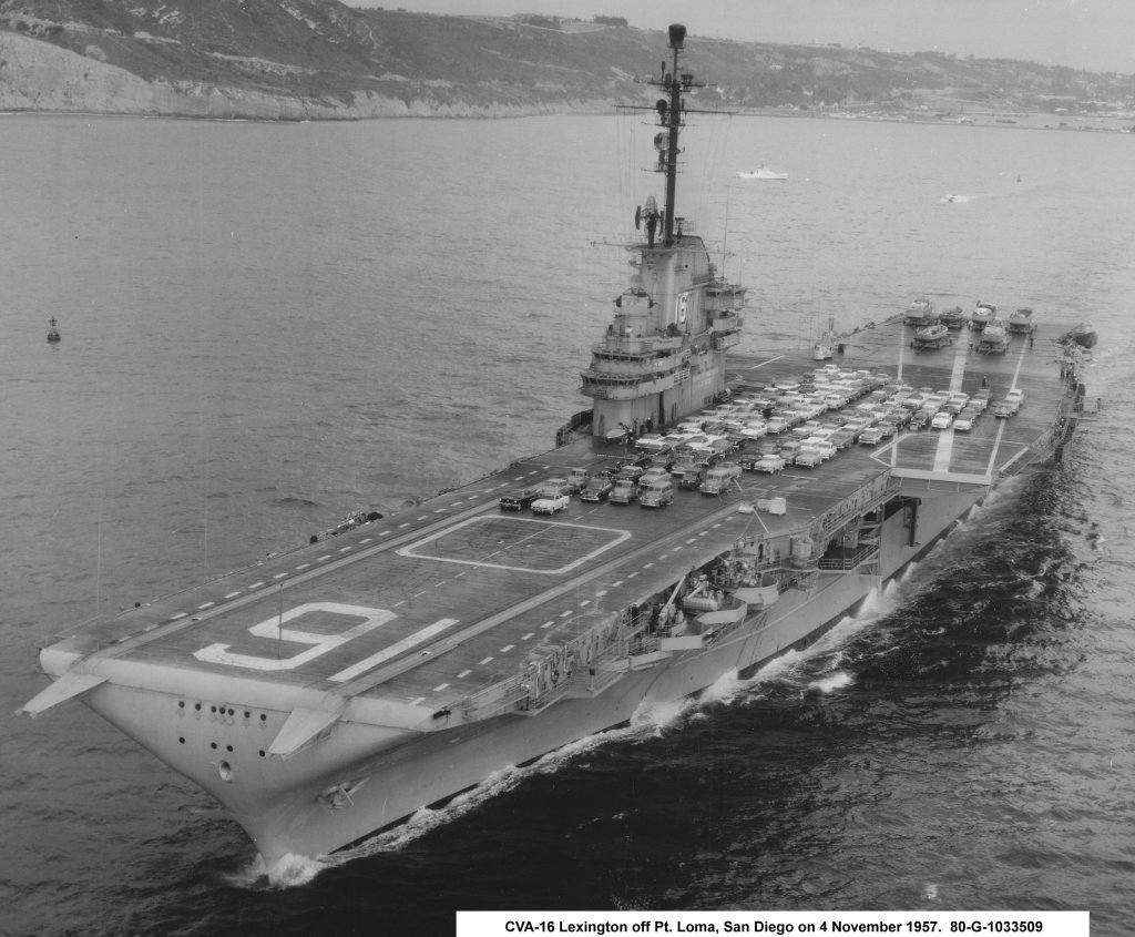CV16 near Point Loma San Diego 4 Nov 1957