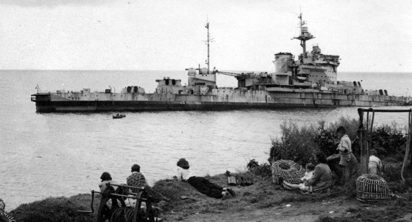 HMS Warspite aground