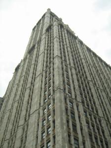 Woolworth Building - хорошо видны детали декора, мой снимок от 23 июля 2011 года