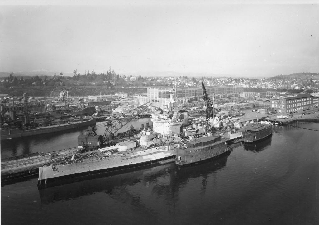 HMS Warspite - December 1941, Puget Sound Naval Shipyard, Bremerton
