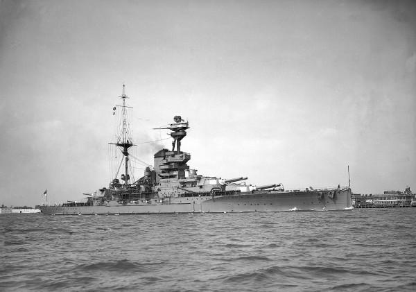 HMS Revenge, начало августа 1939 г.