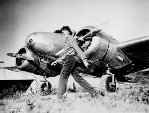 Amelia Earhart and Lockheed Electra 10E NR 16020, c. 1937