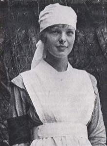 АЭ - военная медсестра в Торонто, 1918 год