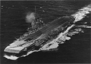 HMS Victorious - aerial - Wartime