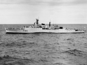 HMS Relentless (F185) after her conversion to a Type 15 frigate