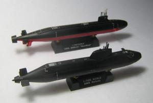 USS Seawolf (SSN-21) and HMS Astute 012