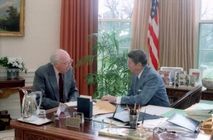 Bill Casey and Ronald Reagan