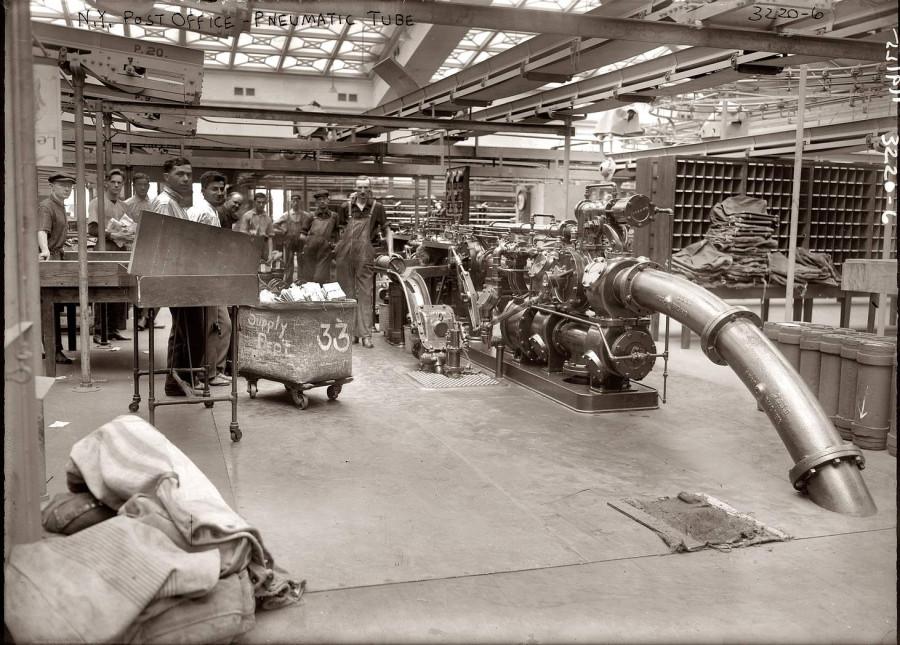 Нью-Йорк - станция пневмопочты - фото 1912 года