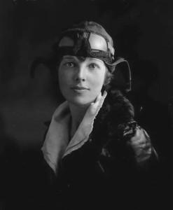 Амелия Эрхарт - фото 1922 г. с летной лицензии
