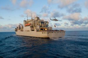SOUTH CHINA SEA (July 8, 2012) - USNS Amelia Earheart (T-AKE 6)  U.S. Navy photo by Mass Communication Specialist 2nd Matthew R. Cole