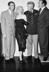Dec 15 1953 - Joe DiMaggio MM General William F. Dean Bob Hope - 1