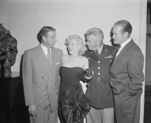 Dec 15 1953 - Joe DiMaggio MM General William F. Dean Bob Hope - 2