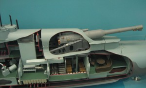 HMS_M1_submarine_model_turret