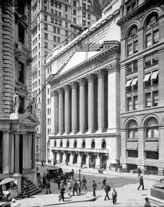 Lower Manhattan circa 1903. New York Stock Exchange, Wall Street
