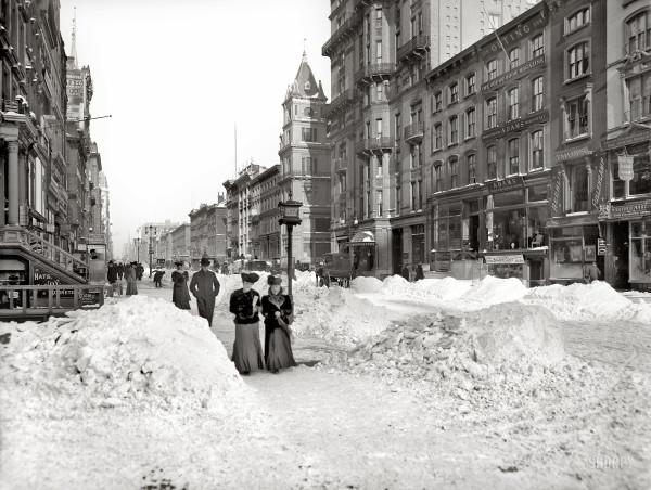 5ая Авеню после снегопада. 1905г