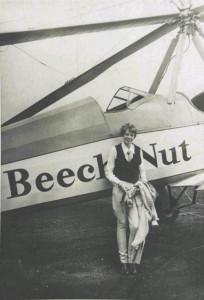 1931  - Амелия возле своего автожира Питкэрн PCA-2