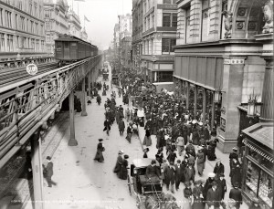 1903. Shoppers on Sixth Avenue, New York City